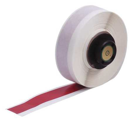 "1/2"" x 50 ft. Red  Label Tape Cartridge,  Vinyl B439"