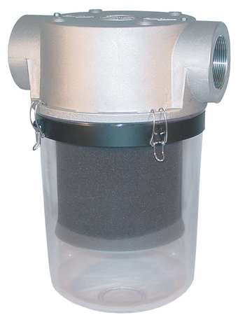 T-Style Inlet Filter, 3 In FNPT, 300 CFM