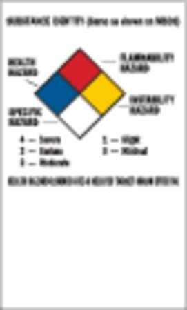 NFPA Label, 5x3, Self-Adhes. Paper, PK500