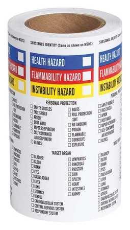 NFPA Label, Paper, 8 In.H, 3 In.W, PK500