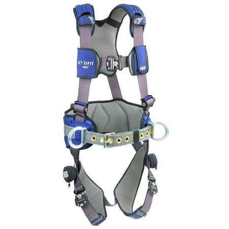 Full Body Harness, M, 420 lb., Blue
