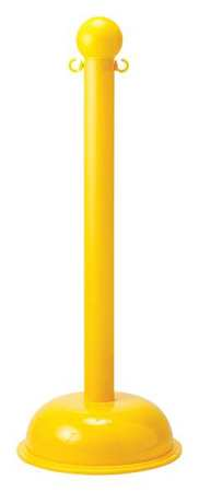Barrier Post, 41 In H, Yellow, Use w/4T630