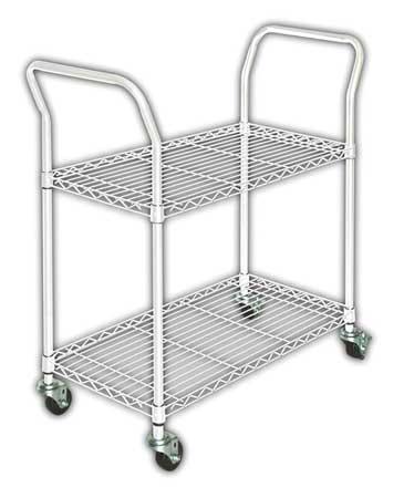 Wire Cart,  2 Shelf, L41 x W18 x H39 In.