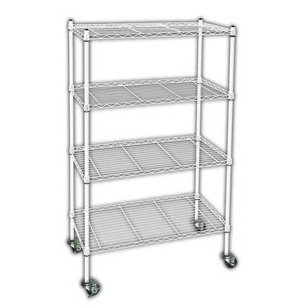 Wire Cart,  4 Shelf, L48 x W24 x H67 In.