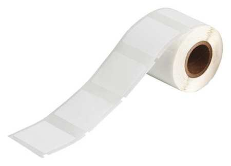 "1-1/2"" x 1-1/4"" White Adhesive Label,  Polyester"