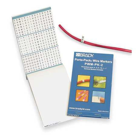 Wire Marker Book, Preprintd,  Self-Adhesiv