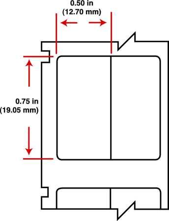 """1/2"""" White Printer Label,  Nylon Cloth"""