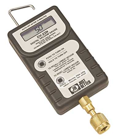 Digital Micron Gauge With Case, LCD