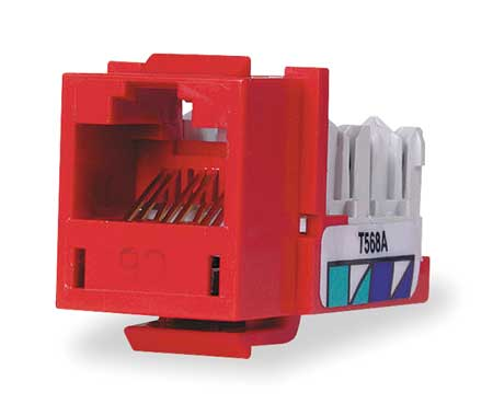 Jack, Red, Cat6, Rj45