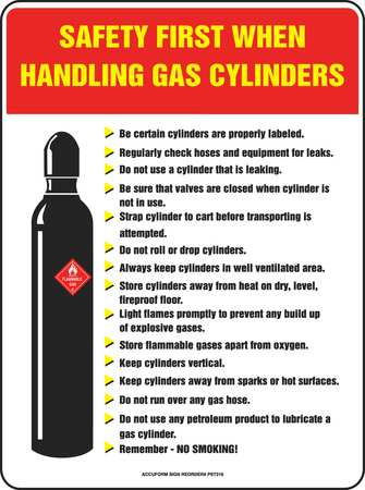 Accuform Safety Poster 24 X 18in Flex Plstc Eng Pst318
