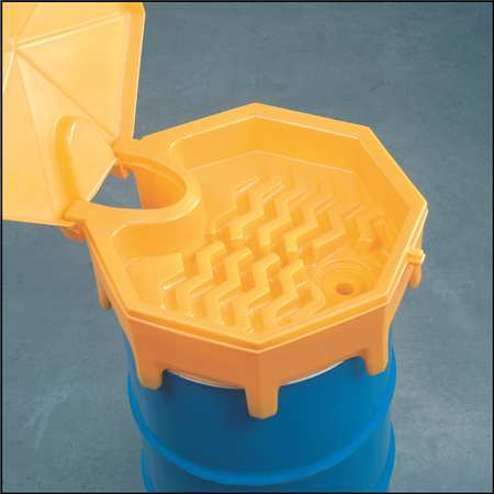 Drum Funnel with Lid, 26.5  In, with Spout