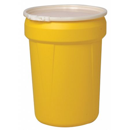 Overpack Drum, Open Head, 30 gal., Yellow