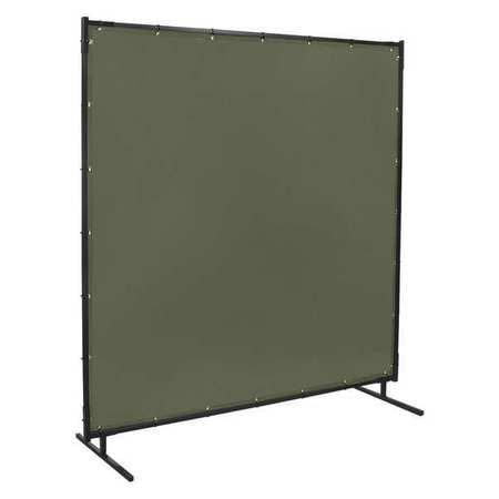 Welding Screen, 8 ft. W, 6 ft., Olive