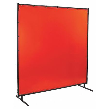 Welding Screen, 6 ft. W, 6 ft., Orange