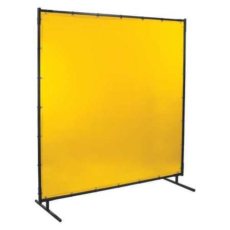 Welding Screen, 8 ft. W, 6 ft., Yellow