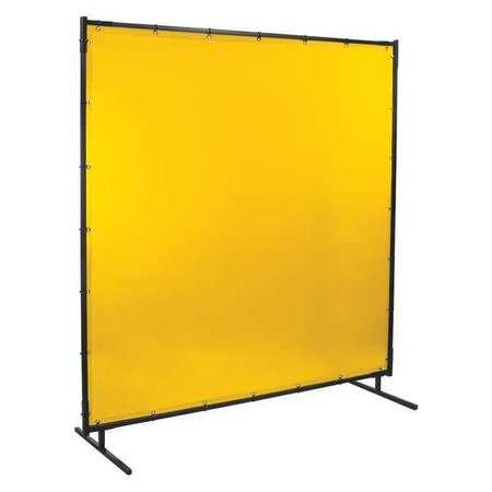 Welding Screen, 6 ft. W, 4 ft., Yellow