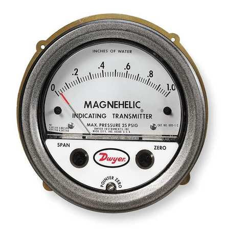 Dwyer Magnehelic Pressure Transmitter,  0/3.0in WC