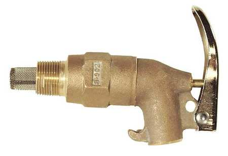 Rigid Safety Faucet, Self-Closing, Brass