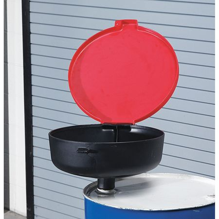 Drum Funnel with Lid, 22 In, with Spout
