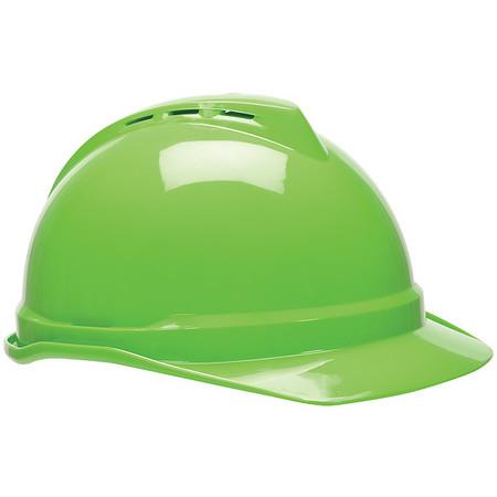 Hard Hat, FrtBrm, NnSlttd, 4Rcht, Hi-Viz Grn