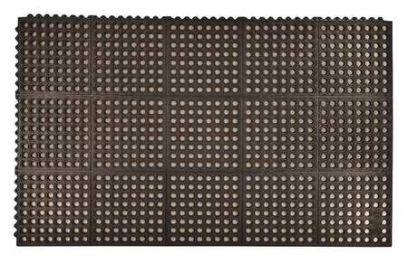 Interlock Drainage Mat, Black, 3 ft.x5 ft.