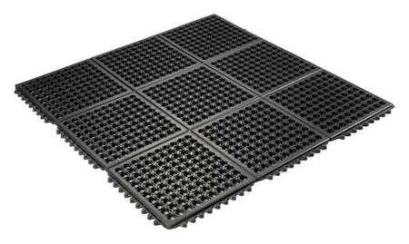 Interlock Drainage Mat, Black, 3 ft.x3 ft.