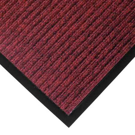 Carpeted Entrance Mat, Red/Black, 3ftx5ft