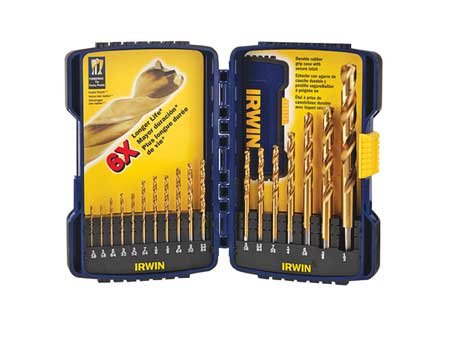 Twist Drill Bit Set, 18-pc, 1/16 to 1/2In