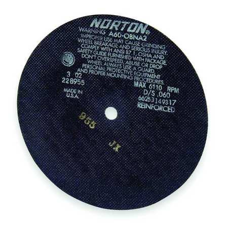 "CutOff Wheel, A60-OBNA2, 6""x.035""x1/2"""