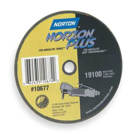 "CutOff Wheel, NorZon Plus, 4""x.062""x3/8"""