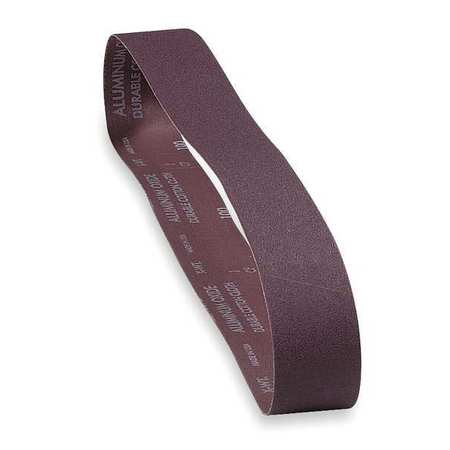 Sanding Belt, 4 In Wx24 In L, AO, 100GR