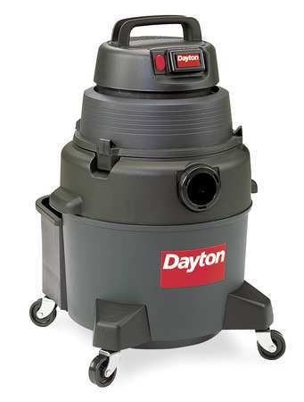 Wet/Dry Vacuum, Air Flow 125 cfm, 4 HP
