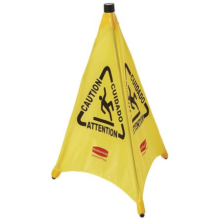 Soft Safety Sign,  Caution,  Eng/Sp/Fr