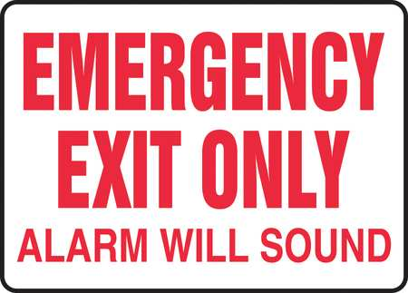 ACCUFORM SIGNS Emergency Exit Sign