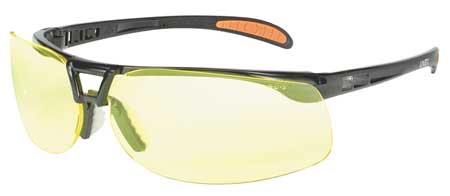 Honeywell Amber Safety Glasses,  Anti-Fog,  Wraparound