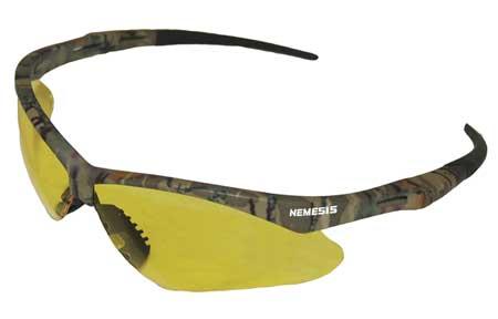 Jackson Safety Nemesis Safety Glasses Amber AntiFog Len Camo Frame ...