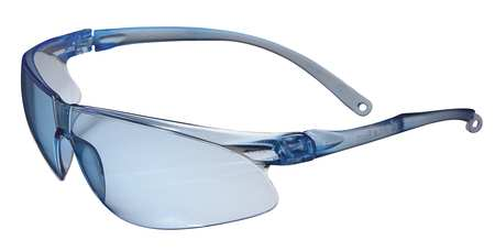 3M Light Blue Safety Glasses,  Scratch-Resistant,  Frameless