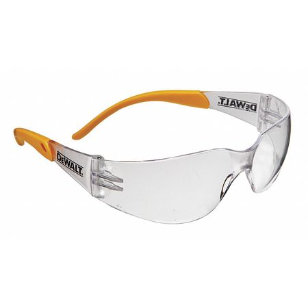 Dewalt Clear Safety Glasses,  Scratch-Resistant,  Wraparound