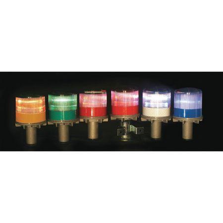 Warning Light, (4) LED, Amber, Solar NiMH