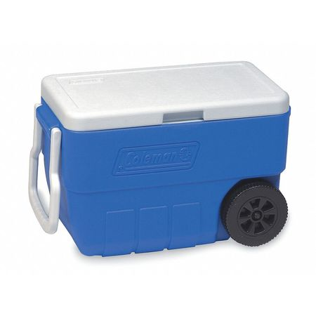 Wheeled Chest Cooler, 50 qt., Blue