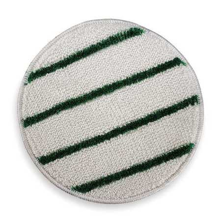 Carpet Bonnet, 21 In, White w/Green Stripe