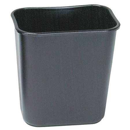 3 gal. Black Rectangular Wastebasket