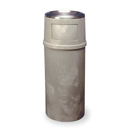 Ash/Trash Can, 25 gal., Tan