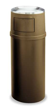 25 gal. Beige Plastic Round Landmark Trash Can Frame with Ashtray