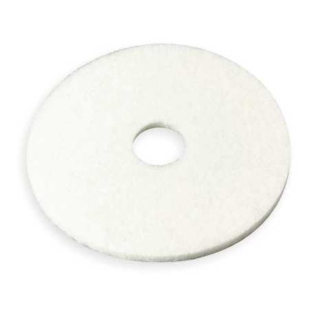 Buffing/Cleaning Pad, 17 In, White, PK5