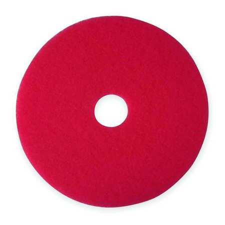 Buffing and Cleaning Pad, 17 In, Red, PK5