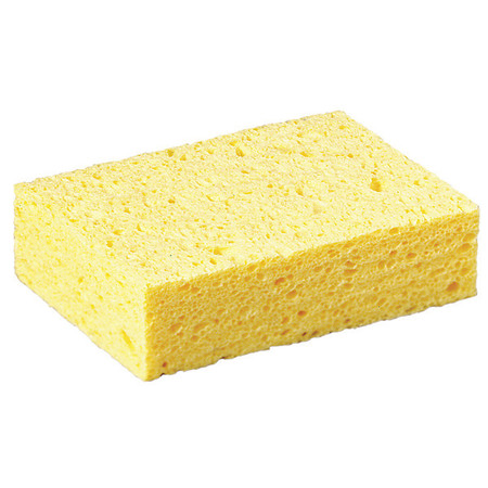 "Sponge, 6""L, 4-1/4""W, Cellulose, Yellow"