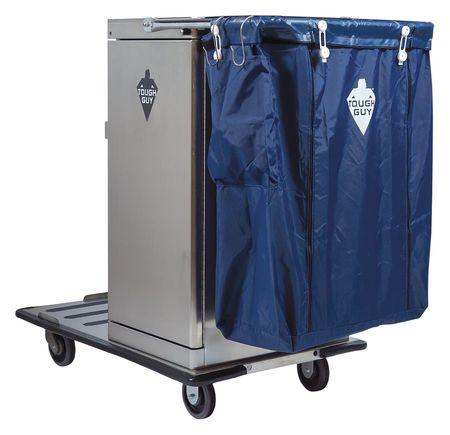 Housekeeping Cart, Silver, Stainless Steel