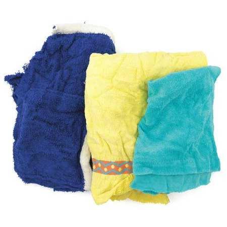 Rags, Terry Cloth, Assort. Colors, 25lb Box