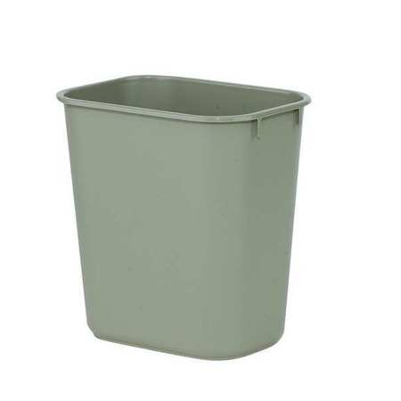 3 gal. Beige Rectangular Wastebasket
